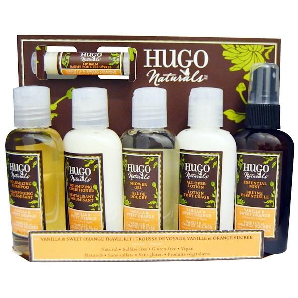 Hugo Naturals, Vanilla & Sweet Orange Travel Kit, 6 Pieces (Discontinued Item)