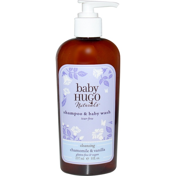 Hugo Naturals, 嬰兒洗髮水和沐浴露,無淚,甘菊和香草氣味,8液體盎司 (237毫升) (Discontinued Item)