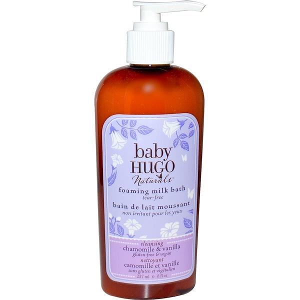Hugo Naturals, Baby, Foaming Milk Bath, Chamomile & Vanilla, 8 fl oz (237 ml) (Discontinued Item)