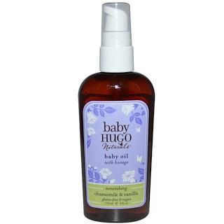 Hugo Naturals, 身體精油,洋甘菊 & 香草,4液體盎司(118毫升)