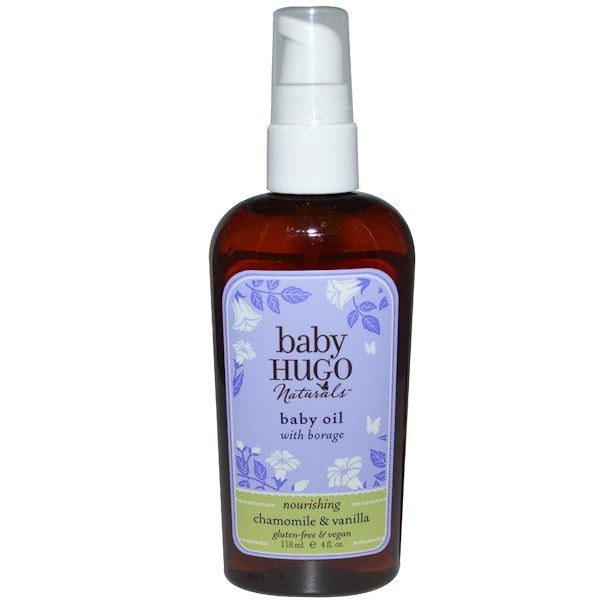 Hugo Naturals, Baby Oil, Chamomile & Vanilla, 4 fl oz (118 ml) (Discontinued Item)