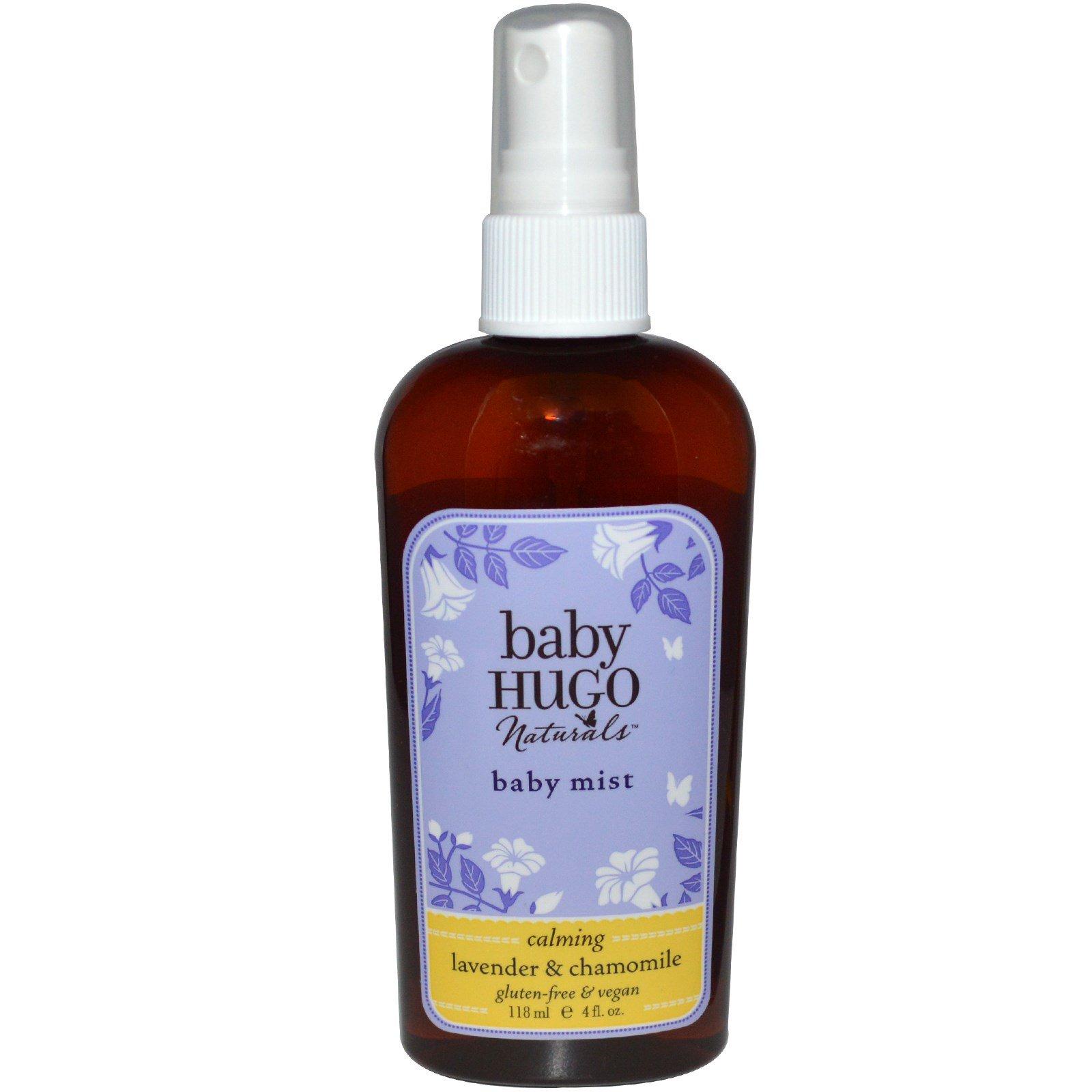 Hugo Naturals, Детский успокаивающий лосьон - аэрозоль с лавандой и ромашкой, 4 жидких унции (118 мл)
