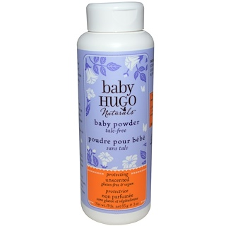 Hugo Naturals, Baby Powder, Unscented, 3 oz (85 g)
