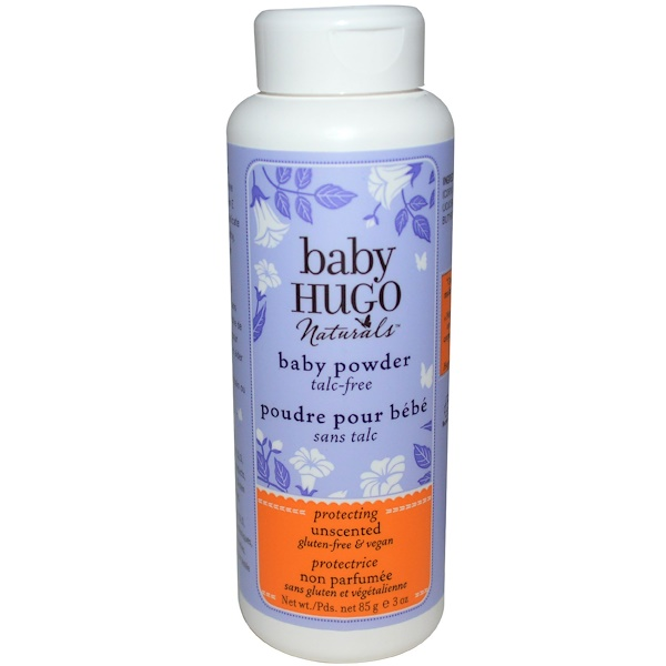 Hugo Naturals, Baby Powder, Unscented, 3 oz (85 g) (Discontinued Item)