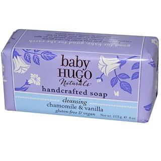 Hugo Naturals, Jabón elaborado a mano para bebés, Manzanilla y Vainilla, 4 oz (113 g)