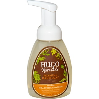 Hugo Naturals, Foaming Hand Soap, Shea Butter & Oatmeal, 8.5 fl oz (251 ml)