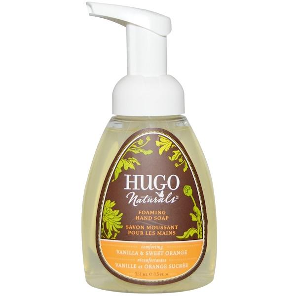 Hugo Naturals, Foaming Hand Soap, Vanilla & Sweet Orange, 8.5 fl oz (251 ml) (Discontinued Item)