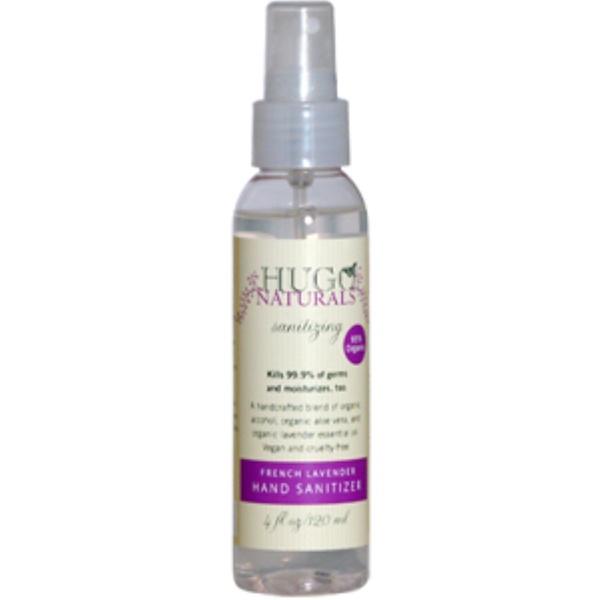 Hugo Naturals, French Lavender Hand Sanitizer, 4 fl oz (120 ml) (Discontinued Item)