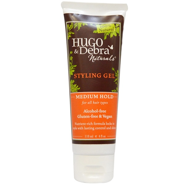 Hugo Naturals, Styling Gel, Medium Hold, 4 fl oz (118 ml) (Discontinued Item)