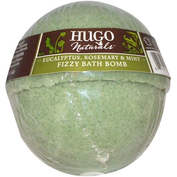 Hugo Naturals, Fizzy Bath Bomb, Eucalyptus, Rosemary & Mint, 6 oz (170 g) (Discontinued Item)