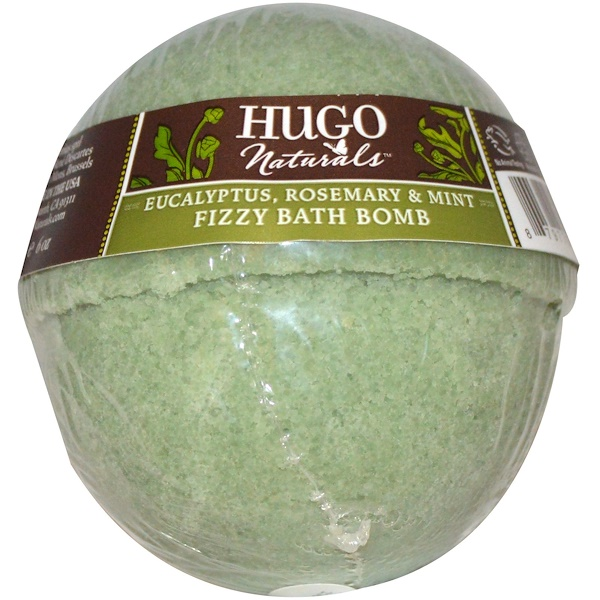 Hugo Naturals, Fizzy Bath Bomb, Eucalyptus, Rosemary & Mint, 6 oz (170 g)