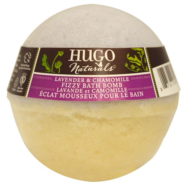 Hugo Naturals, Fizzy Bath Bomb, Lavender & Chamomile, 6 oz (170 g) (Discontinued Item)
