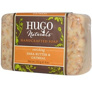 Hugo Naturals, 手作り石けん、 シアバター & オートミール、 4 oz (113 g)