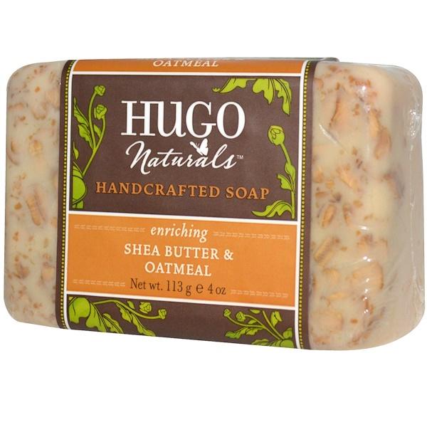Hugo Naturals, Мыло ручной работы, масло ши и овсяные хлопья, 4 унции (113 г)