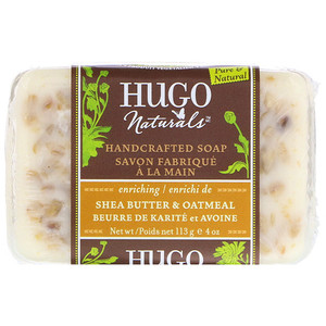 Хьюго Нэчуралс, Handcrafted Soap, Shea Butter & Oatmeal, 4 oz (113 g) отзывы покупателей