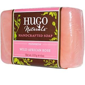 Хьюго Нэчуралс, Handcrafted Soap, Wild African Rose, 4 oz (113 g) отзывы покупателей
