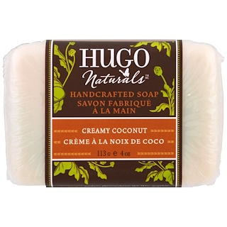 Hugo Naturals, Handcrafted Soap, Creamy Coconut, 4 oz (113 g)