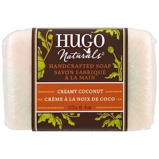 Hugo Naturals, Jabón Artesanal, Coco cremoso, 4 oz (113 g)