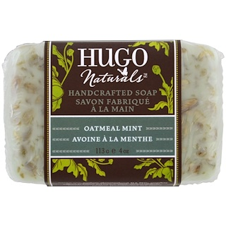 Hugo Naturals, Мыло ручной работы, с ароматом овса и мяты, 4 унции (113 г)