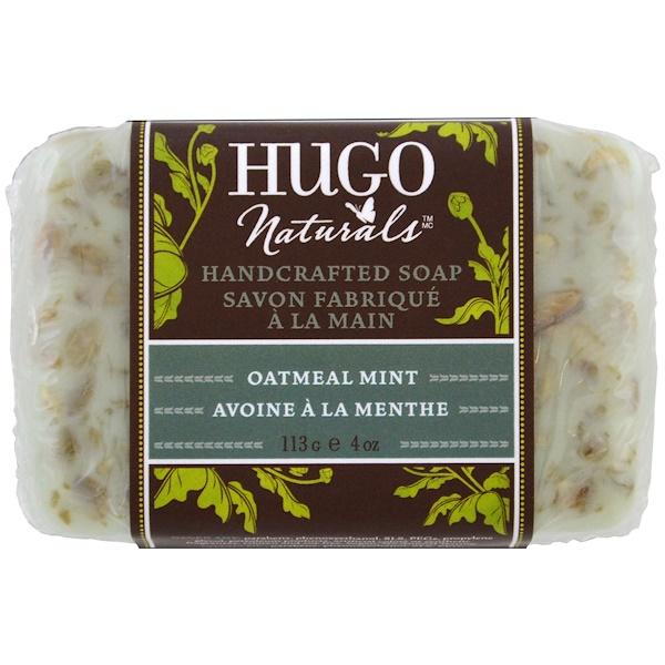 Hugo Naturals, 수제 비누, 오트밀 민트, 4 oz (113 g)
