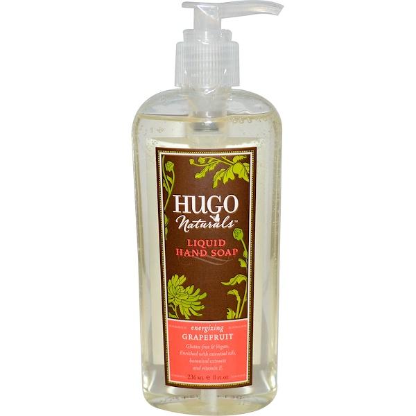 Hugo Naturals, Liquid Hand Soap, Grapefruit, 8 fl oz (236 ml) (Discontinued Item)
