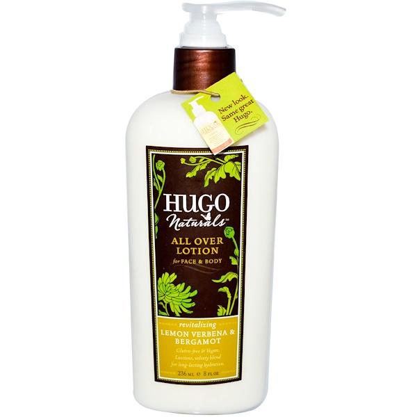 Hugo Naturals, All Over Lotion, Lemon Verbena & Bergamot, 8 fl oz (236 ml) (Discontinued Item)