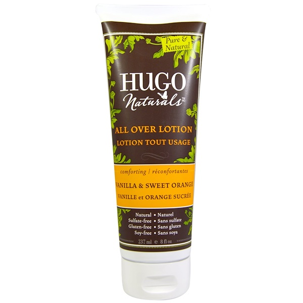 Hugo Naturals, All Over Lotion, Vanilla & Sweet Orange, 8 fl oz (237 ml) (Discontinued Item)