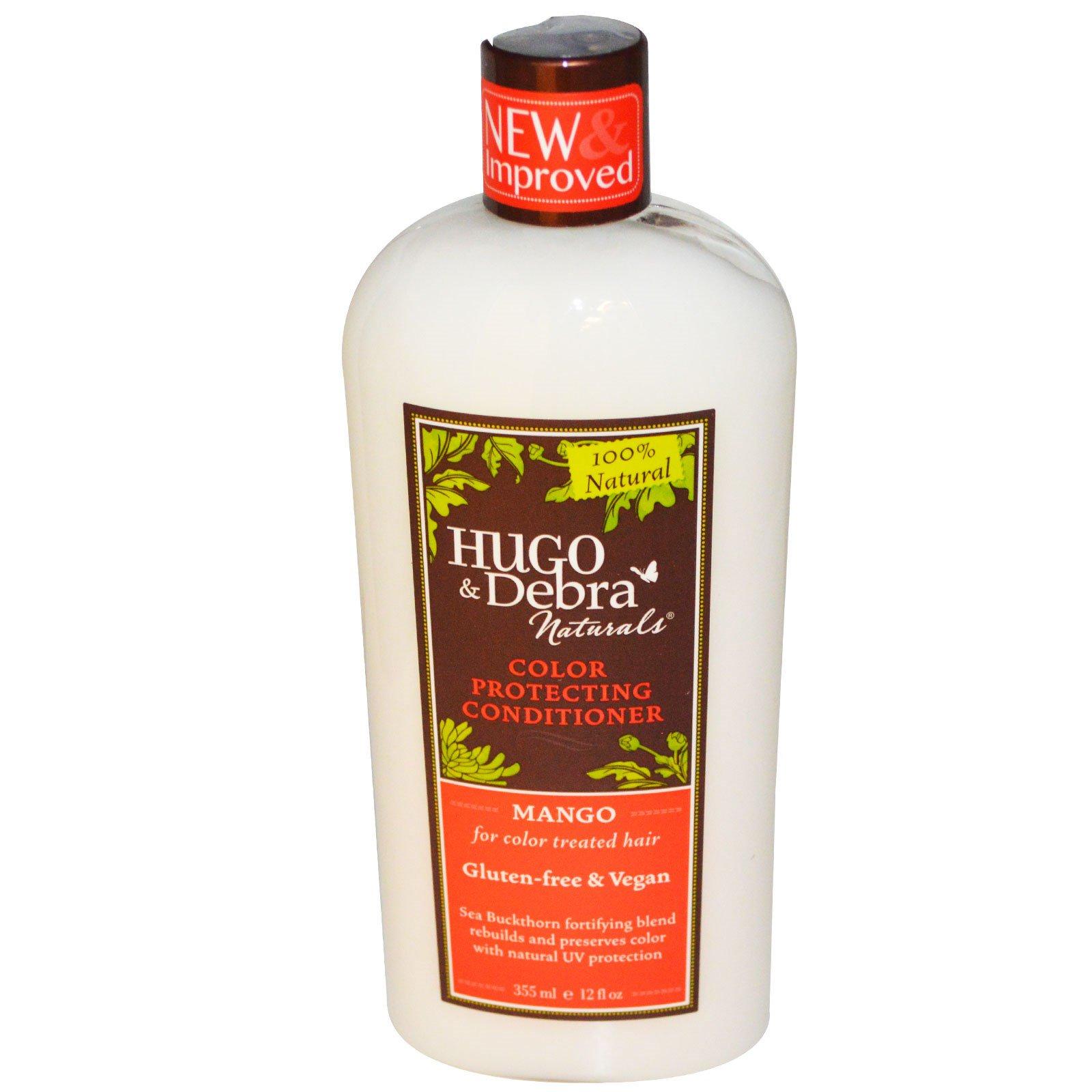 Hugo Naturals, Кондиционер для защиты окрашенных волос, манго, 12 жидк. унц. (355 мл)