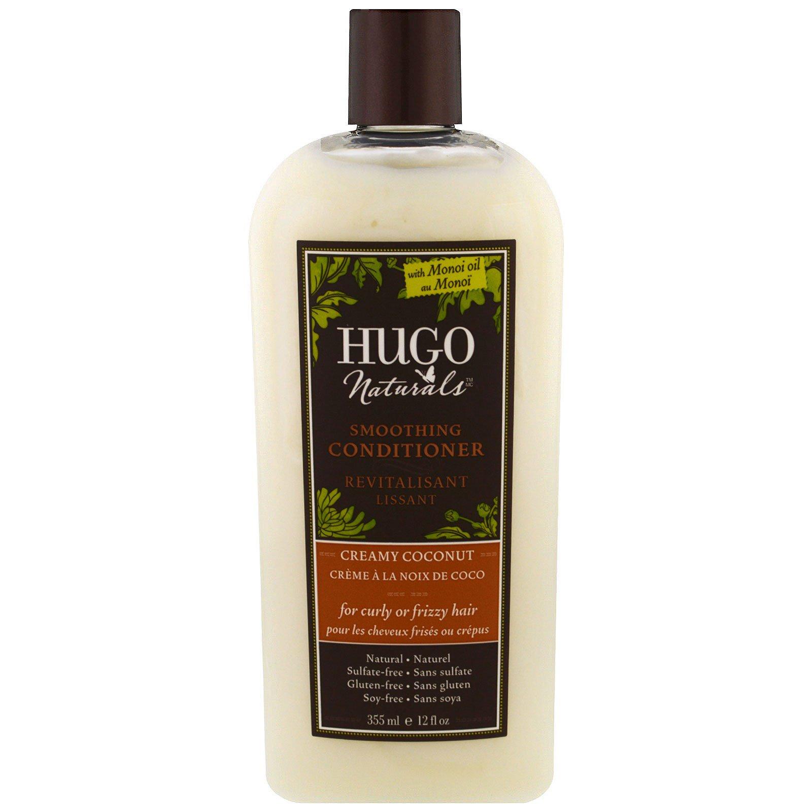 Hugo Naturals, Разглаживающий кондиционер, сливочный кокос, 12 жидк. унц. (355 мл)
