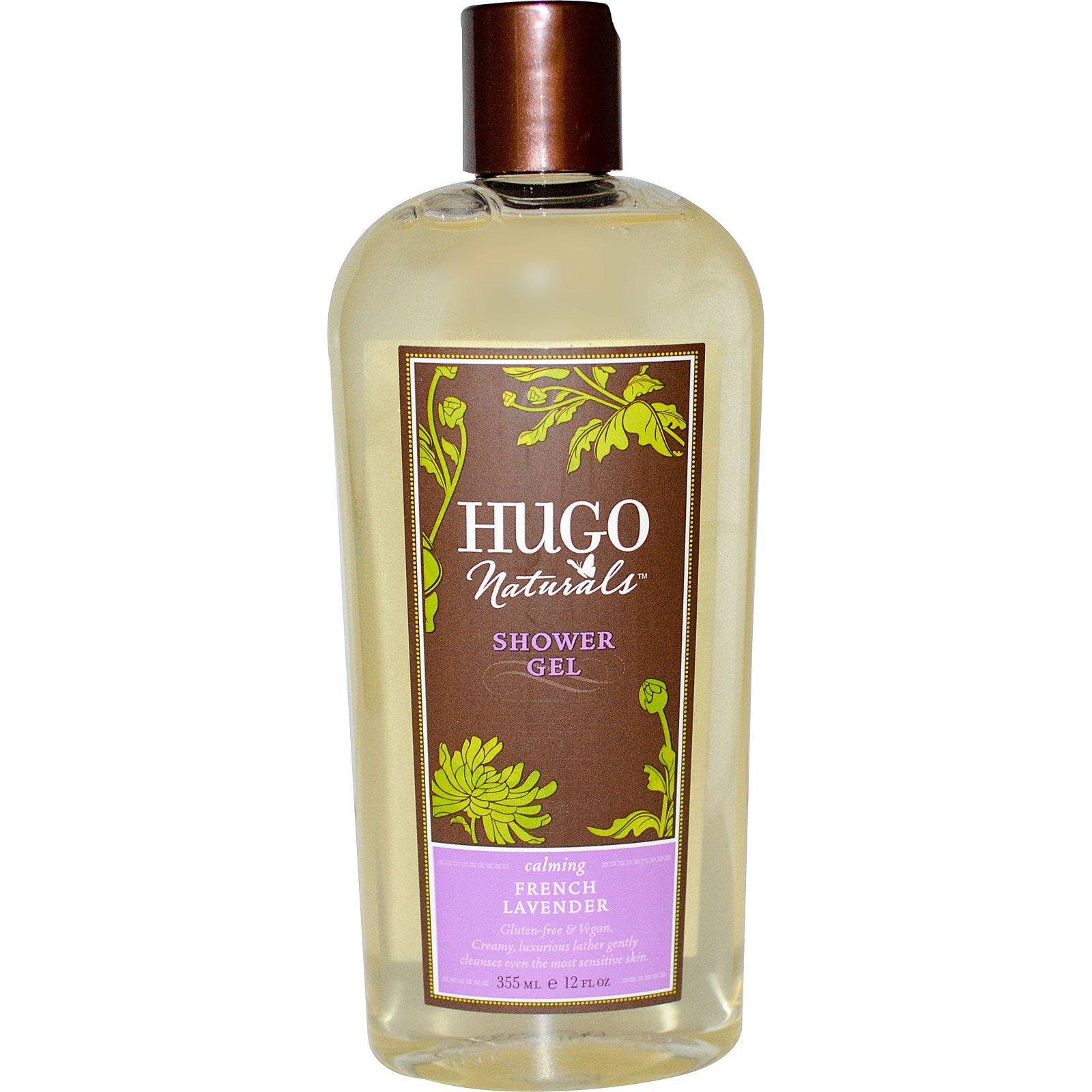 Hugo Naturals, Гель для душа, французская лаванда, 16 жидк. унц. (473 мл)