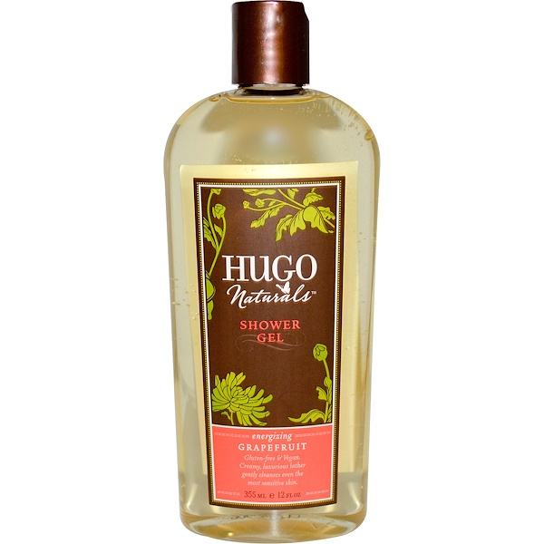 Hugo Naturals, Shower Gel, Grapefruit, 12 fl oz (355 ml) (Discontinued Item)