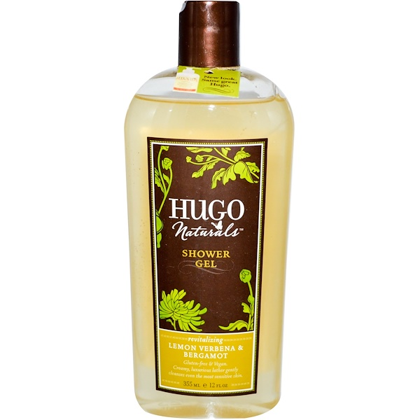 Hugo Naturals, Shower Gel, Lemon Verbena & Bergamot, 12 fl oz (355 ml) (Discontinued Item)