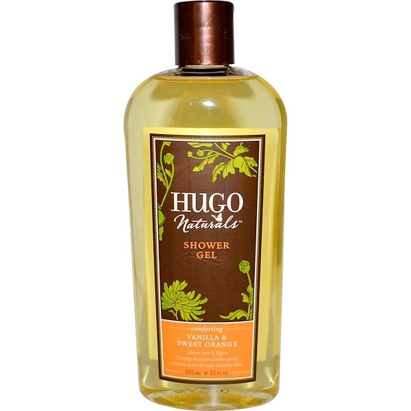 Hugo Naturals, Shower Gel, Vanilla & Sweet Orange, 12 fl oz (355 ml) (Discontinued Item)