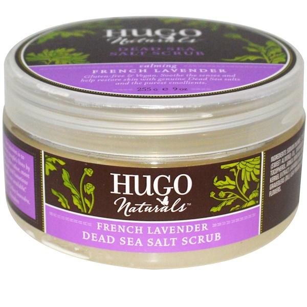 Hugo Naturals, Скраб из соли Мертвого моря, французская лаванда, 9 унций (255 г)