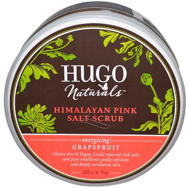 Hugo Naturals, Himalayan Pink Salt Scrub, Grapefruit, 9 oz (255 g)