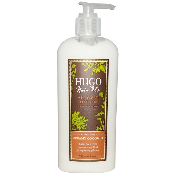 Hugo Naturals, All Over Lotion, Creamy Coconut, 8 fl oz (237 ml) (Discontinued Item)