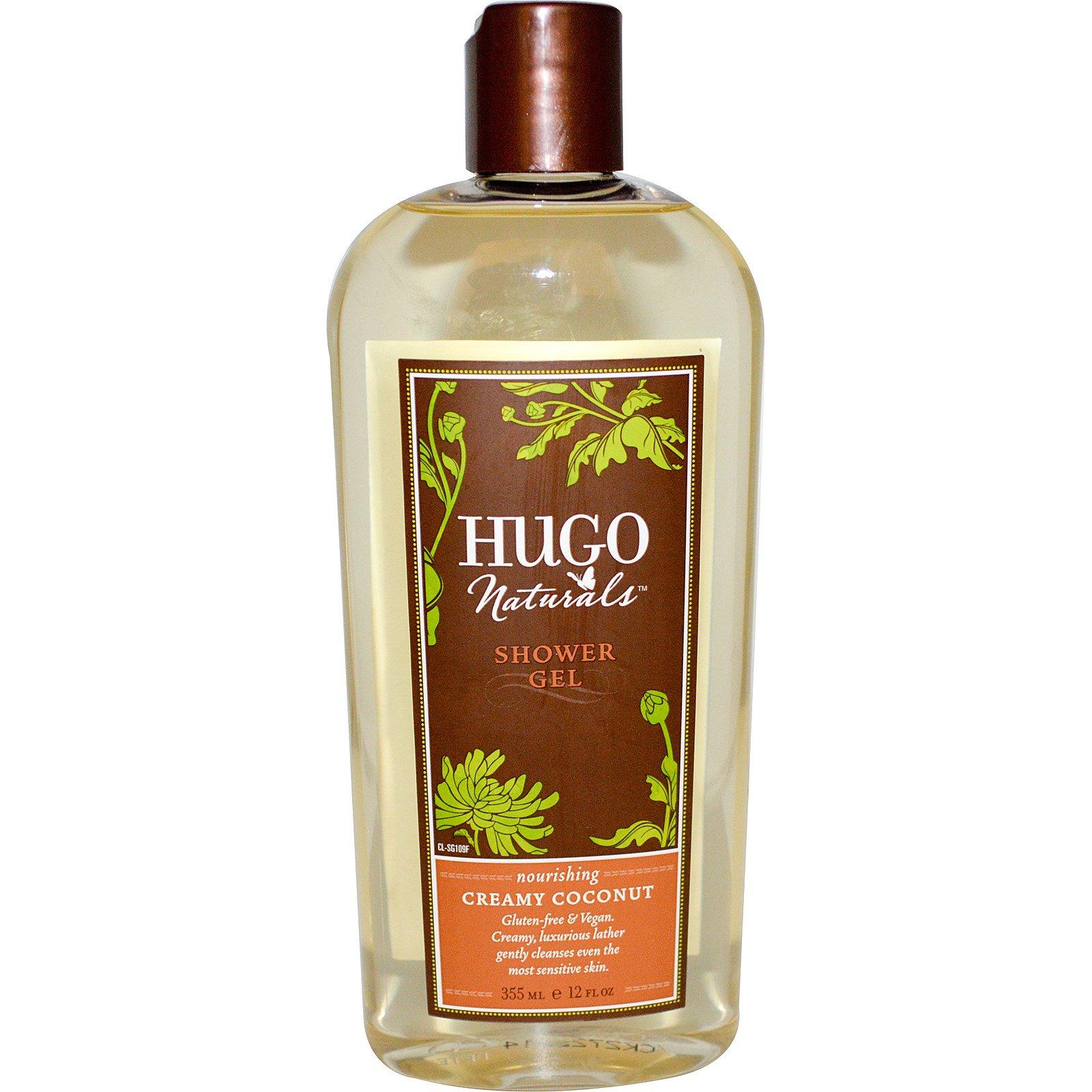 Hugo Naturals, Гель для душа, кремовый кокос, 355 мл (12 жидких унций)