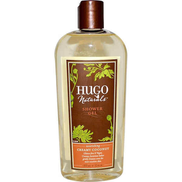 Hugo Naturals, Shower Gel, Creamy Coconut, 12 fl oz (355 ml) (Discontinued Item)