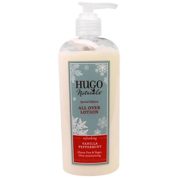 Hugo Naturals, All Over Lotion, Vanilla Peppermint, 8 fl oz (236 ml) (Discontinued Item)