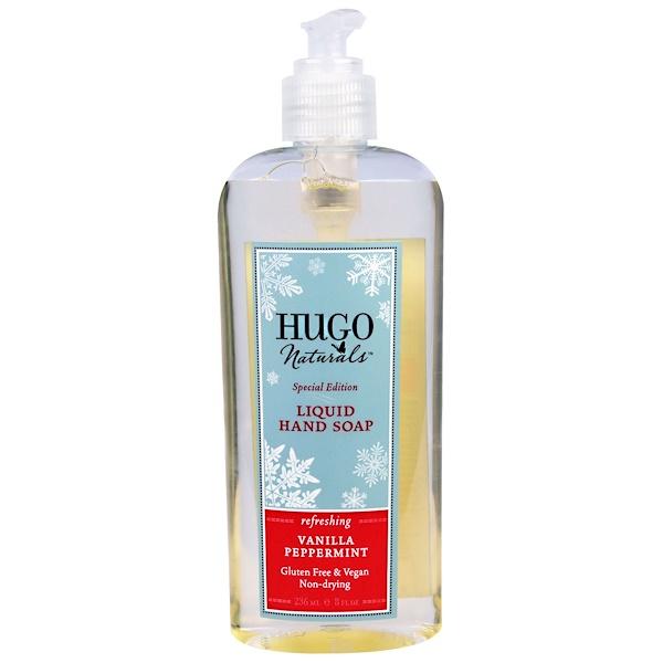 Hugo Naturals, Liquid Hand Soap, Special Edition, Vanilla Peppermint, 8 fl oz (236 ml) (Discontinued Item)