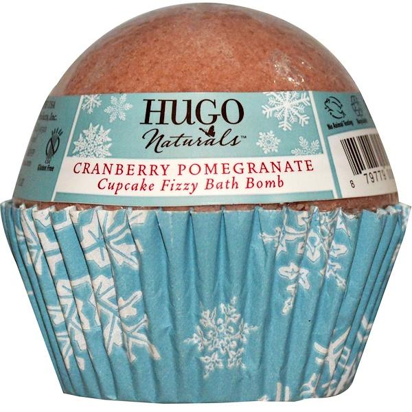 Hugo Naturals, Cupcake Fizzy Bath Ball, Cranberry Pomegranate, 6 oz (170 g) (Discontinued Item)