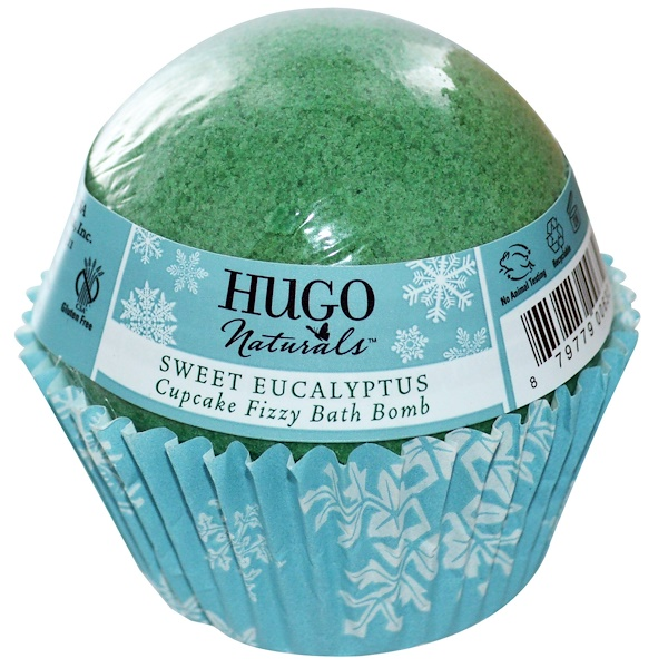 Hugo Naturals, Cupcake Fizzy Bath Ball, Sweet Eucalyptus, 6 oz (170 g) (Discontinued Item)