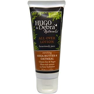 Hugo Naturals, All Over Lotion, Shea Butter & Oatmeal, 3.4 fl oz (100 ml)