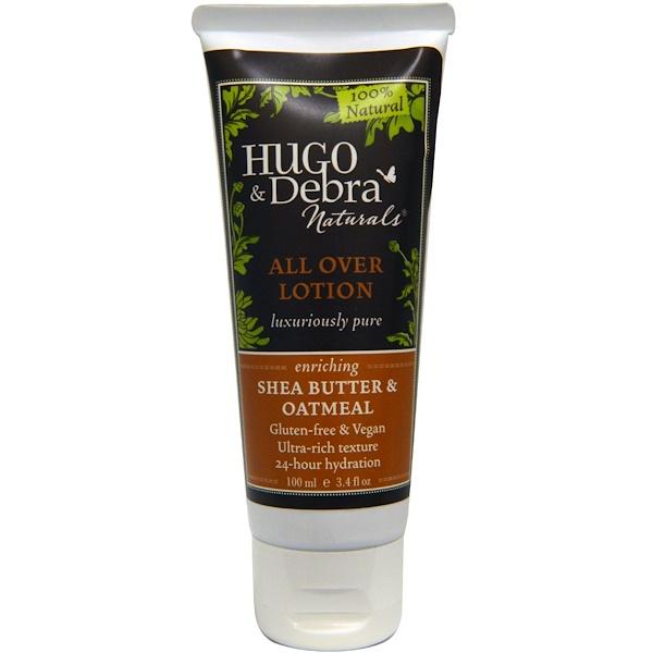 Hugo Naturals, Питательный лосьон для всего тела, масло ши и овес, 3,4 жидких унций (100 мл) (Discontinued Item)