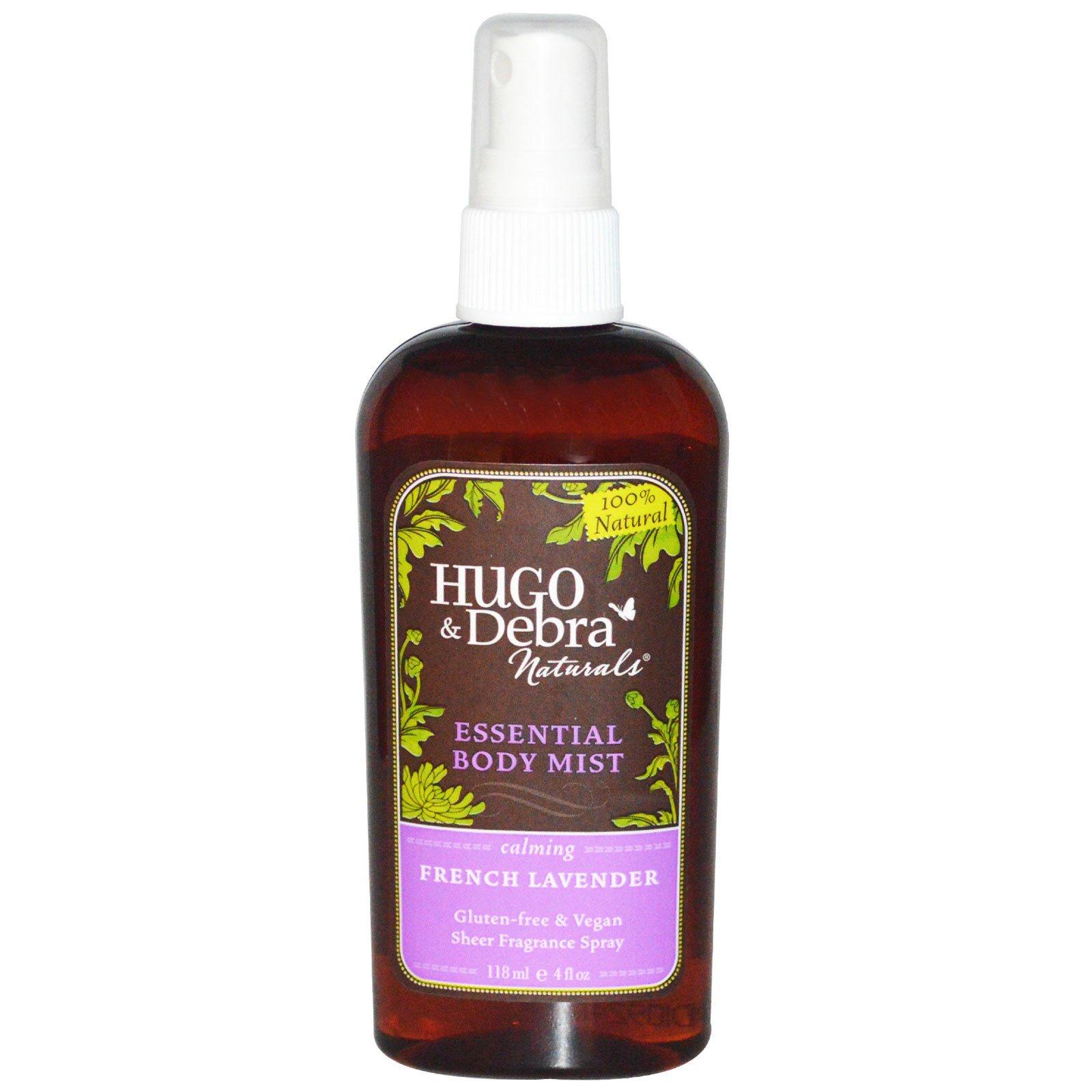 Hugo Naturals, Эфирный спрей для тела, французская лаванда, 4 жидких унции (118 мл)