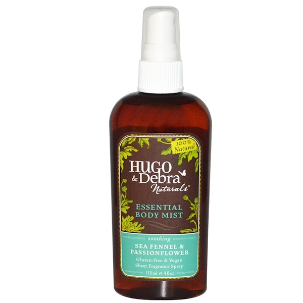 Hugo Naturals, Essential Body Mist, Sea Fennel & Passionflower, 4 fl oz (118 ml) (Discontinued Item)
