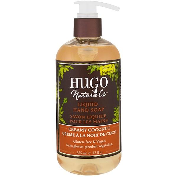 Hugo Naturals, Liquid Hand Soap, Creamy Coconut, 12 fl oz (355 ml) (Discontinued Item)