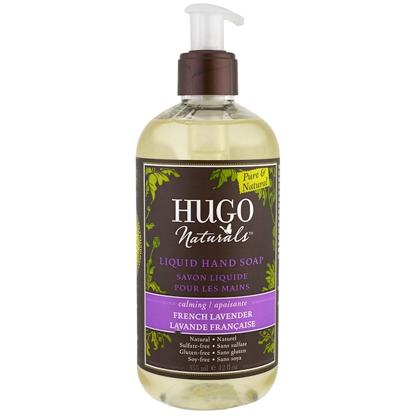 Hugo Naturals, 液体ハンドソープ、鎮静作用、フレンチラベンダー、12液量オンス(355 ml)