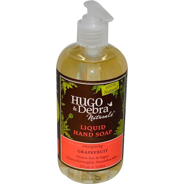 Hugo Naturals, Liquid Hand Soap, Grapefruit, 12 fl oz (355 ml) (Discontinued Item)