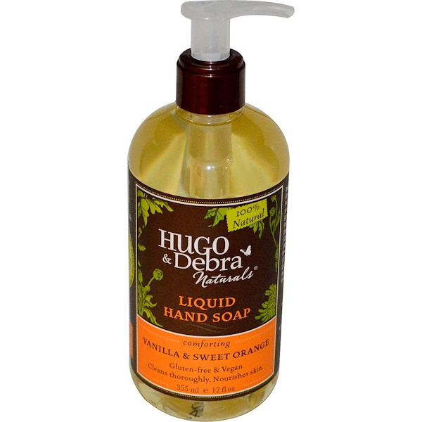 Hugo Naturals, Liquid Hand Soap, Vanilla & Sweet Orange, 12 fl oz (355 ml)